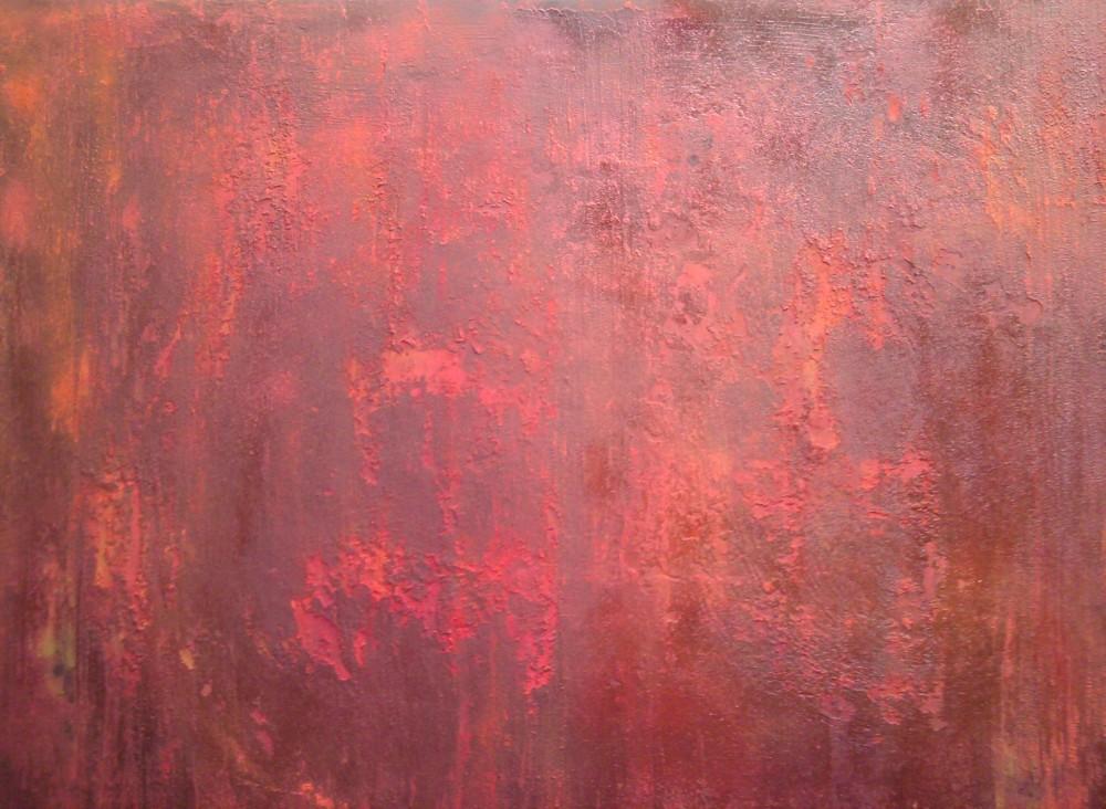 acrylique + Pigment,Burn,rouge,orange,mdf fin,86x67