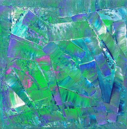 abstrait acrylique,acrylique + pigment,toile 40x40